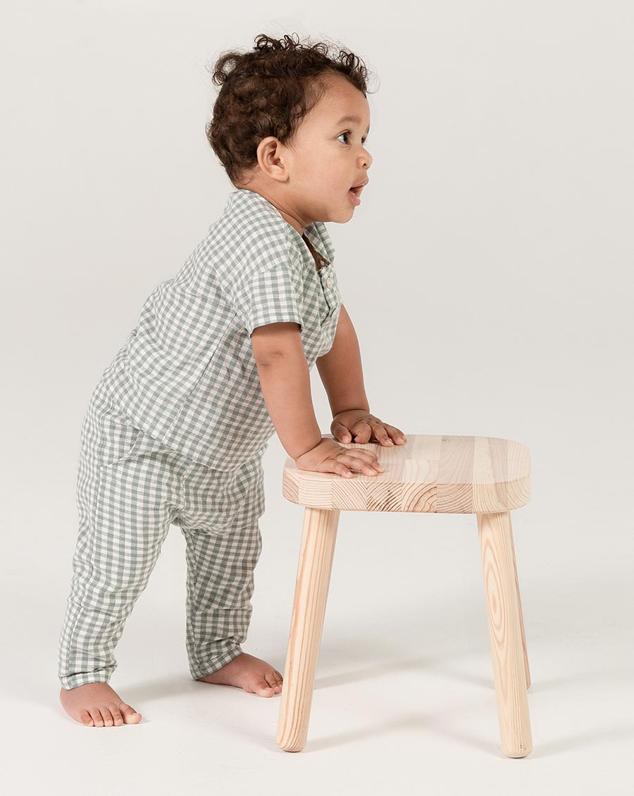 Load image into Gallery viewer, Rylee + Cru Gingham Hawthorn Trouser | Little Boys Checkered Trousers