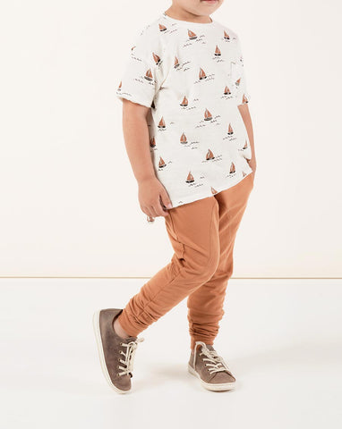 Rylee + Cru James Pant Bronze | Little Boys Drawstring Pants