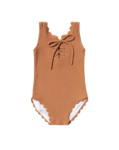 Rylee + Cru Laced Onepiece | Little Girls Onepiece Swimsuit