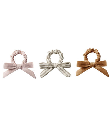 Rylee + Cru Little Bow Scrunchie Set Lilac, Olive, Bronze | Rylee + Cru Hometown Collection