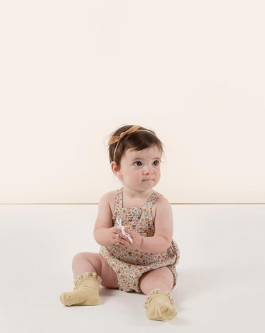 Rylee + Cru Flower Field Norah Romper | Little Girls Floral Print Rompers