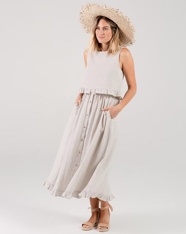 Oceanside Skirt - Silver