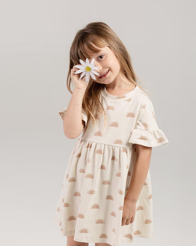 Rylee + Cru Girls Rainbow Sun Babydoll Dress | Little Girls Dresses