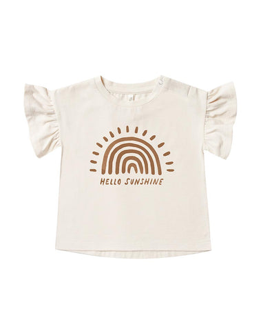 Rylee + Cru Rainbow Sun Flutter Tee | Little Girls Rainbow Graphic Tees