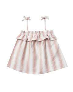 Rylee + Cru Ruffle Tube Top Petal Stripe | Girls Little Tube Tops