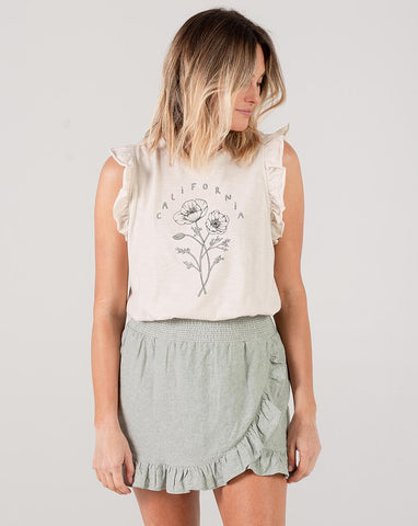 Ruffled Tank - Natural