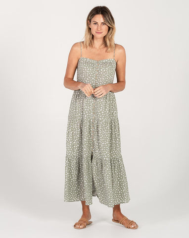 Seafoam Tiered Maxi Dress