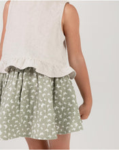 Load image into Gallery viewer, Rylee + Cru Seafoam Butterfly Mini Skirt | Little Girls Mini Skirts