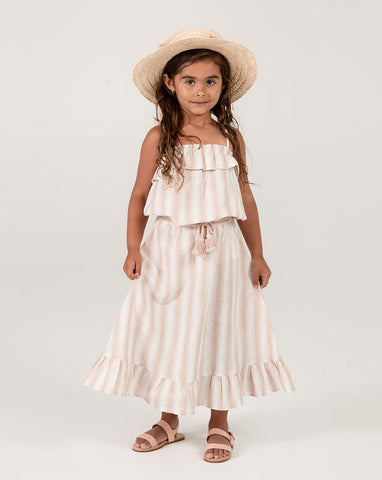 Rylee + Cru Petal Stripe Midi Skirt | Girls Midi Skirts