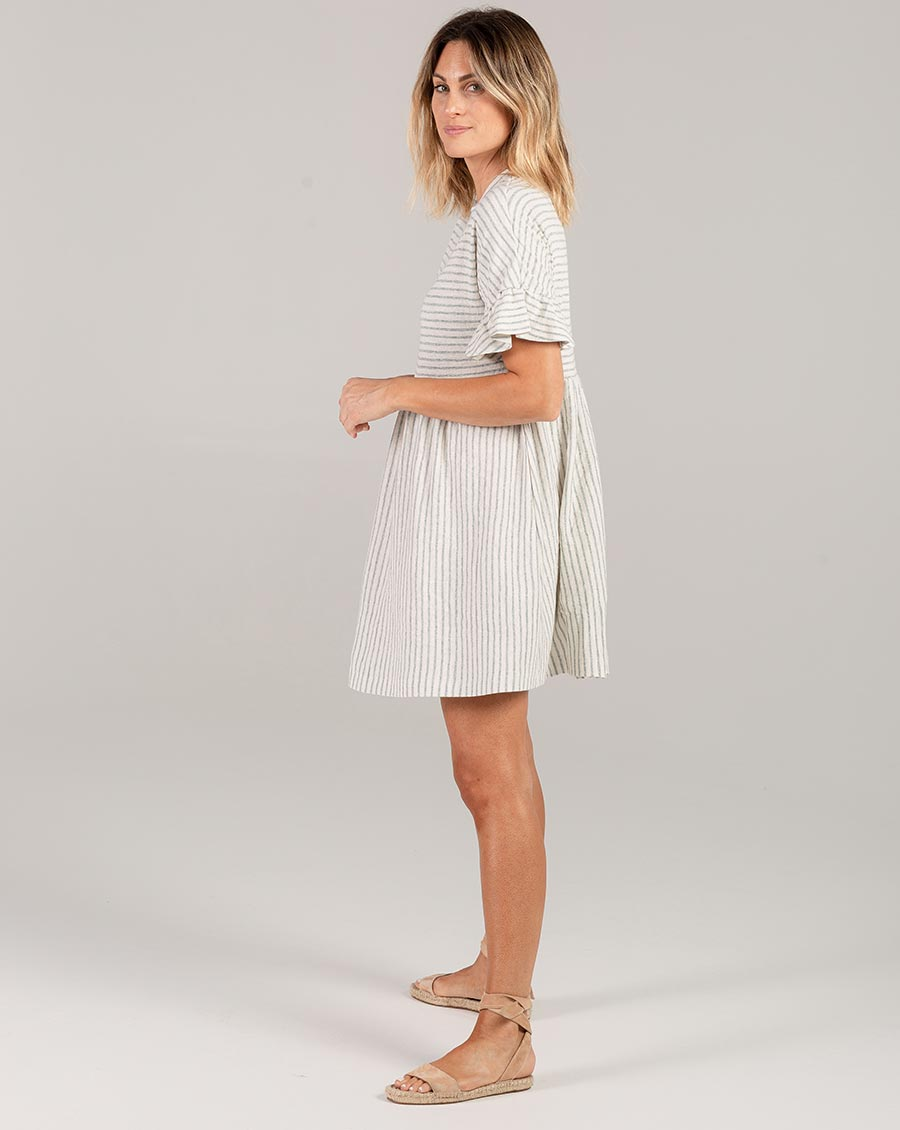 Rylee + Cru Stripe Babydoll Dress Sea | Women's Rylee + Cru Hometown Collection