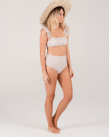 Sunburst High-Waisted Bikini Bottom