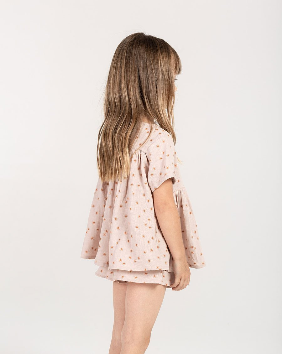 Load image into Gallery viewer, Rylee + Cru Sunburst Scallop Short | Little Girls Beach Shorts