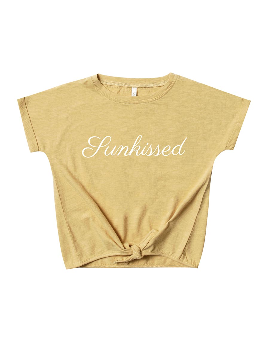 Rylee + Cru Sunkissed Knotted Tee | Girls Knotted Tees