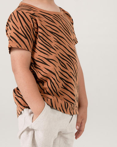 Tiger Basic Tee - Bronze