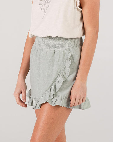 Rylee + Cru Seafoam Wrap Ruffle Skirt | Hometown Collection