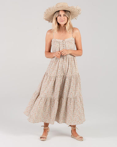 Flower Field Tiered Maxi Dress