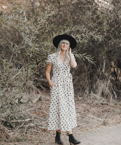Winter Flowers Wrap Dress