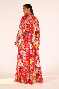 Hudson Floral Maxi Dress | Farm Rio - Women's Clothing