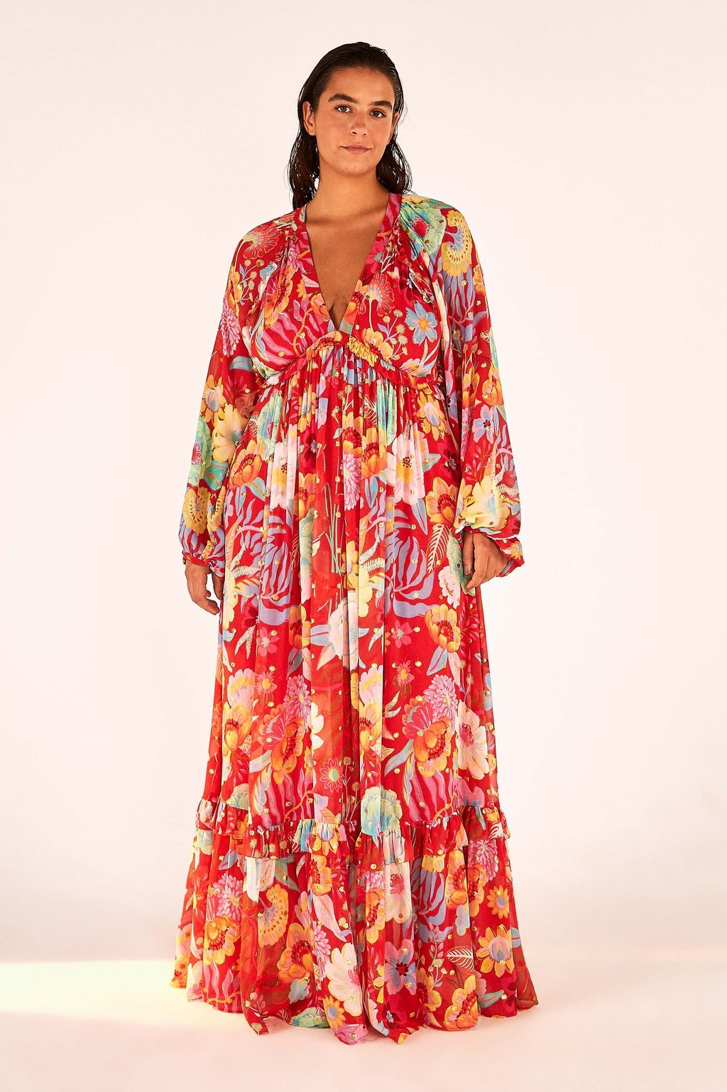 Load image into Gallery viewer, Hudson Floral Maxi Dress | Farm Rio - Women's Clothing