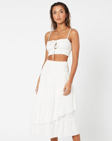 Shifting Sands Maxi Skirt - White