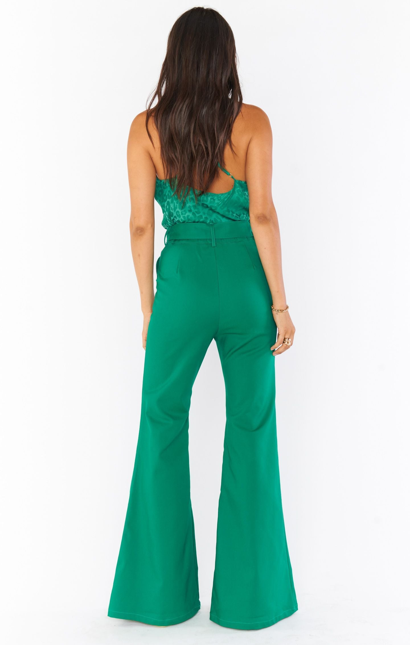 Load image into Gallery viewer, DJ Flare Pant - Green Suiting | Show Me Your Mumu - Holiday/Resort 2020 | Women's Bottoms