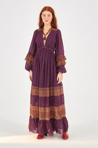 Sophie Scarf Maxi Dress | Farm Rio | Fall 2020 - Women's Clothing