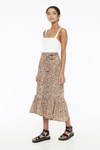 Sabila Skirt in Mathiola Floral Print by Faithfull The Brand | Womens Skirts