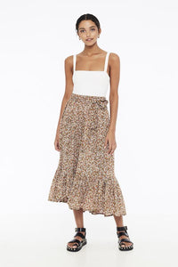 Sabila Skirt in Mathiola Floral Print by Faithfull The Brand