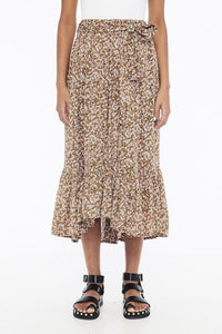 Sabila Skirt in Mathiola Floral Print by Faithfull The Brand | Bohemian Mama