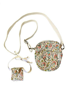 "Presale - Duo Collection - Cotton ""LOLA"" Bag Vine Flowers"