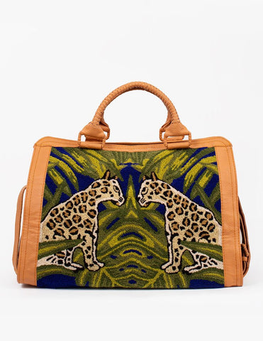 Sadie Travel Bag Cleobella Women's Weekender Leopard Bag