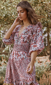 Laci Dress in Combo Floral | Saylor Mini Dresses