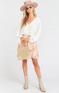 Show Me Your Mumu Shae Skirt in Hydrangea Blooms | Women's