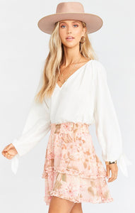 Show Me Your Mumu Shae Skirt in Hydrangea Blooms | Spring 2020