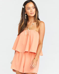 Show Me Your Mumu | Thelma Romper Tangerine | Womens Jumpsuit and Romper