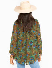 Load image into Gallery viewer, Show Me Your Mumu Alicia Tunic Peacock | Women's Peacock Printed Tops
