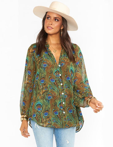Alicia Tunic Original Peacock