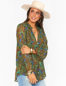 Show Me Your Mumu Alicia Tunic Peacock | Women's Peacock Printed Tops