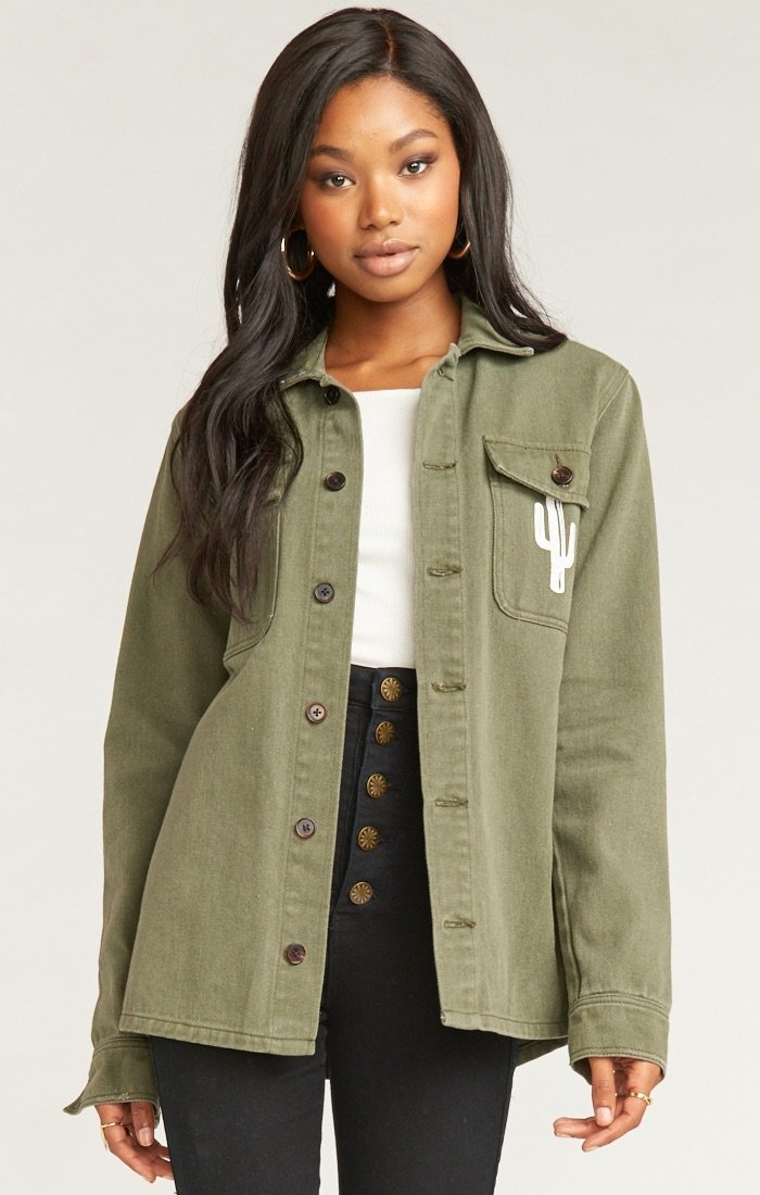 Army Jacket in Olive Cactus by Show Me Your Mumu