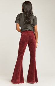 Show Me Your Mumu Cam Cam Button Up Bells Cranberry Corduroy | Womens Pants