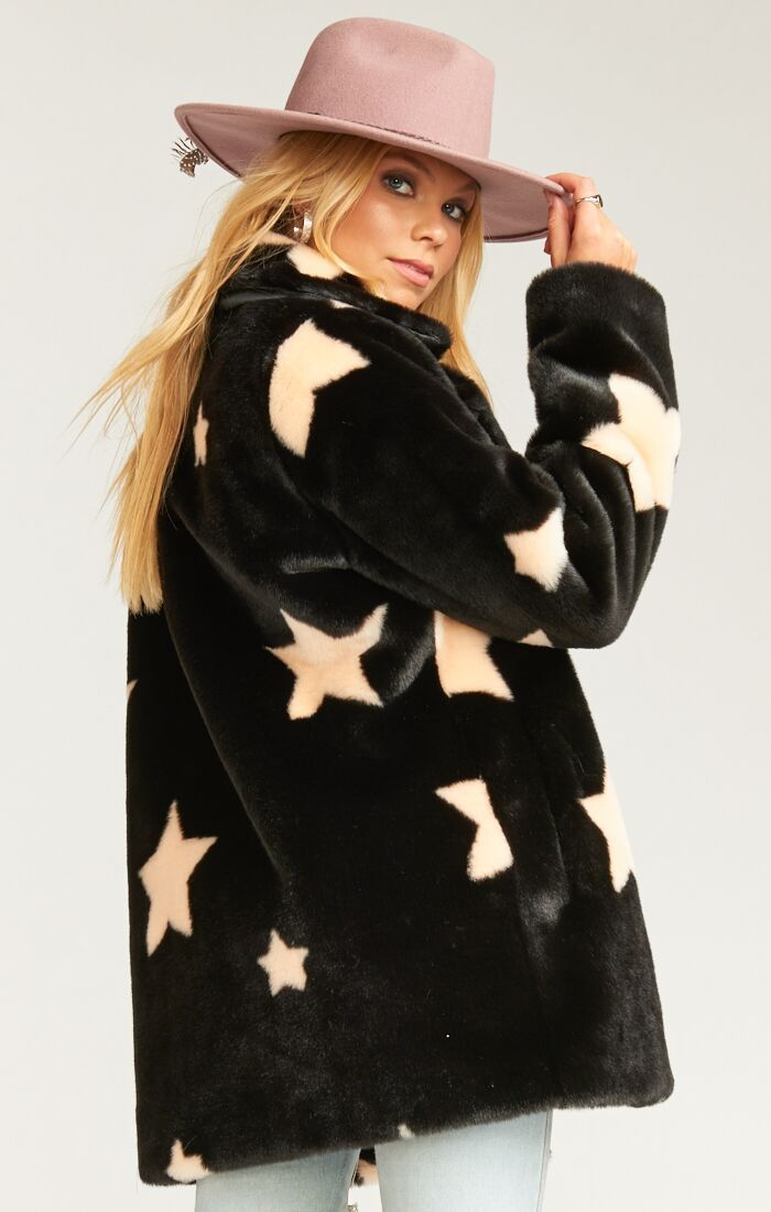 Load image into Gallery viewer, Show Me Your Mumu Colorado Jacket - Starry Daze Faux Fur | Womens