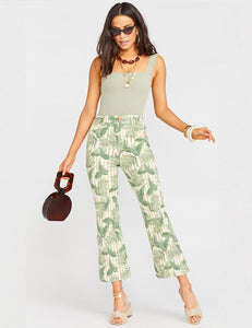Cropped Hawn Trouser Bamboo Palm | New Show Me Your Mumu Spring
