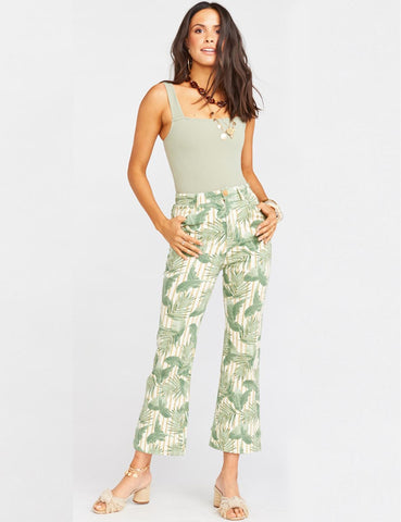 Cropped Hawn Trouser Bamboo Palm