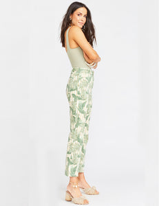 Cropped Hawn Trouser Bamboo Palm | Womens Bamboo Palm Trousers