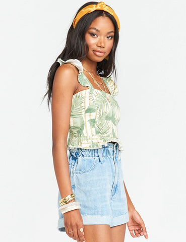 Show Me Your Mumu Delia Crop Top Bamboo Palm | Crop Tops Women