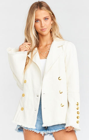 Women's Show Me Your Mumu Gillian Jacket Ivory