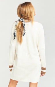 White Show Me Your Mumu Hartford Sweater Dress Courtside Knit
