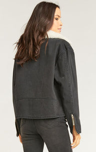 Show Me Your Mumu Karson Denim Jacket Washed Black | Womens Denim