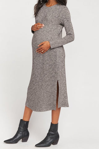 Show Me Your Mumu Maddison Dress Mountaintop Sweater Knit | Gray Dresses