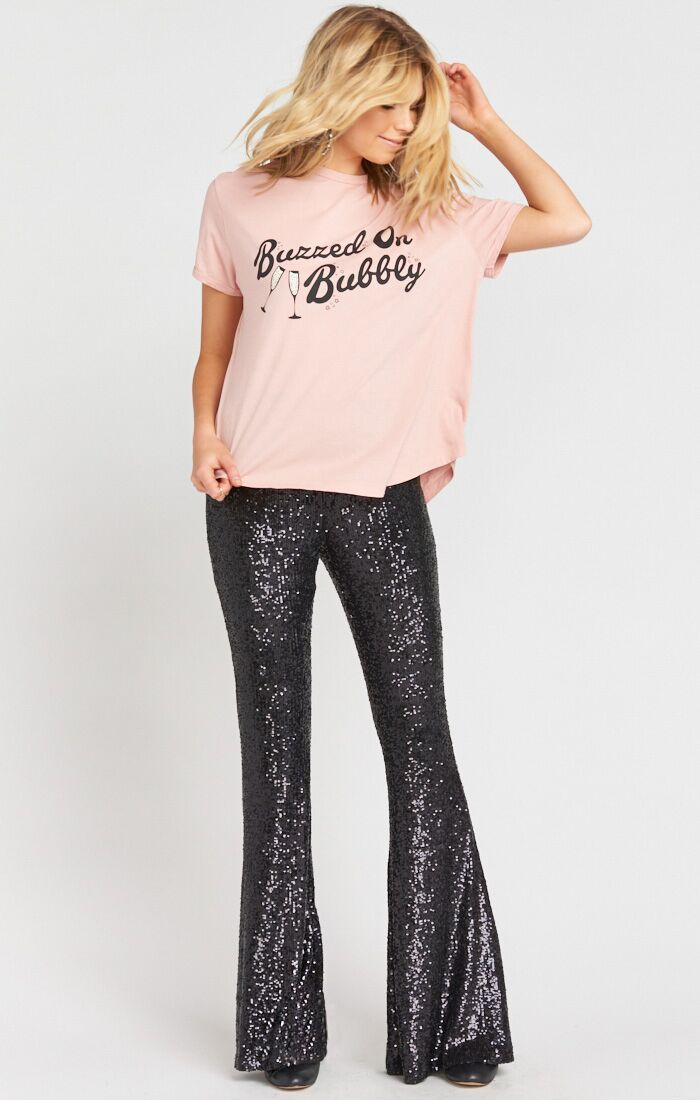 Show Me Your Mumu Mercury Bells Limelight Sequins Bottoms